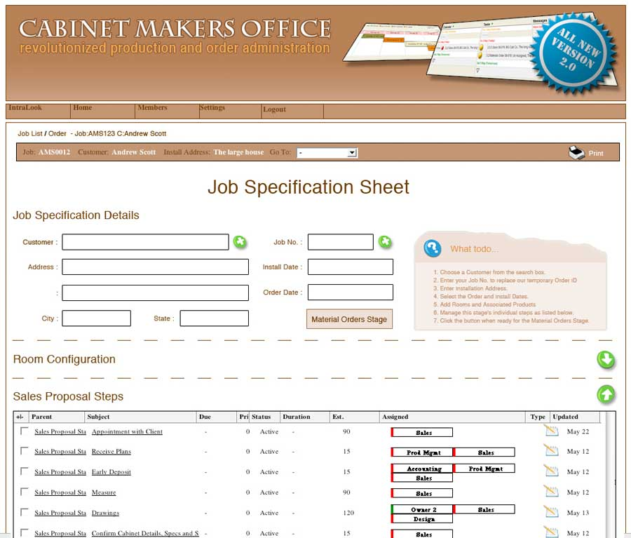 CMO Job Spec Screenshot
